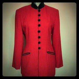 Casual Corner Petite Retro Red Pant Suit